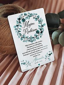 Darčeky pre svadobčanov - Poďakovanie rodičom 71 venček - 13168734_