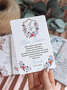 Darčeky pre svadobčanov - Poďakovanie rodičom vintage 73 erb - 13168760_