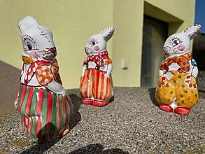 Dekorácie - Keramický zajko - 13168507_