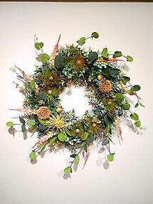 """Dekorácie - strapatý  veniec """"kvitnúce trávy"""" 50 cm - 13169157_"""