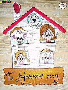 Tabuľky - Menovka - rodinka a domček - 13166580_