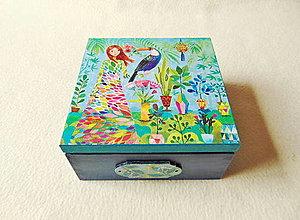 Krabičky - Drevená krabička Exotická - 13168307_
