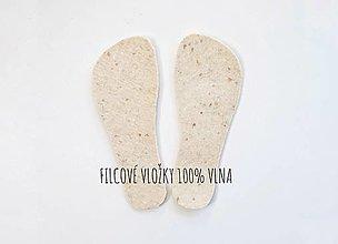 Obuv - Filcová vložka 100%vlna, voliteľná súčasť sady na výrobu papučiek - 13166893_