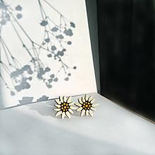 Náušnice - Drevené maľované náušnice Plesnivce ✽ - 13169039_