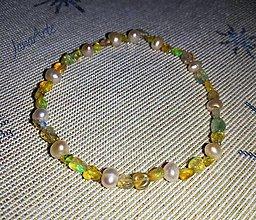 Náramky - Prírodný Etiópsky opál náramok - 13168641_