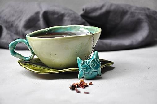 sitko na čaj sova