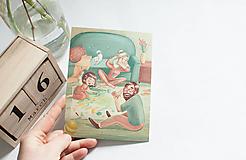 """Papiernictvo - Eco-pohľadnica """"Maľujeme spoločne"""" - 13166314_"""