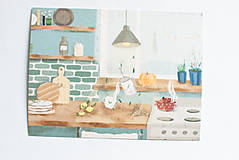"""Papiernictvo - Eco-pohľadnica """"Keď za oknom prší"""" - 13166315_"""