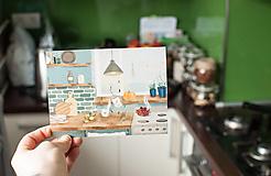 """Papiernictvo - Eco-pohľadnica """"Keď za oknom prší"""" - 13166317_"""