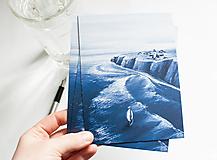"""Papiernictvo - Eco-pohľadnica """"Modrý oceán"""" - 13166362_"""