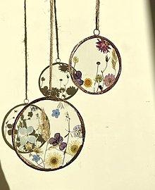 Dekorácie - Závesné dekorácie s lúčnymi kvetmi - 13169671_