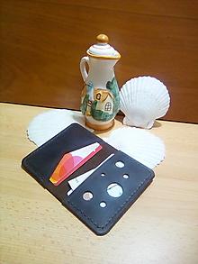 Peňaženky - Kožená peňaženka - hnedá, na karty a bankovky - 13169172_