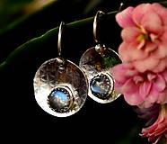 Náušnice - S měsíčním kamenem - 13169570_