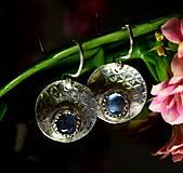 Náušnice - S měsíčním kamenem - 13169576_
