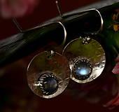 Náušnice - S měsíčním kamenem - 13169577_