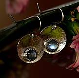 Náušnice - S měsíčním kamenem - 13169578_