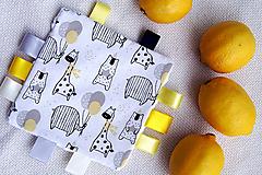 Hračky - Senzorická hračka - citrónová  - 13170805_