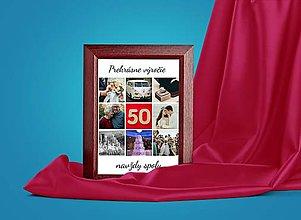 Obrazy - Personalizovaný darček k 50tke Darček na výročie svadby rodičov - 13168096_