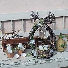 Dekorácie - Veľkonočná dekorácia z brezového prútia + mini dekorácie - 13174585_