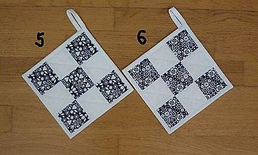 Úžitkový textil - Chňapka modrotlačová - 13172559_