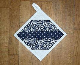 Úžitkový textil - Chňapka modrotlačová (č.2) - 13173191_