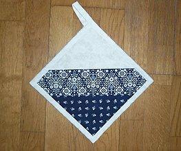 Úžitkový textil - Chňapka modrotlačová (č.1) - 13173204_