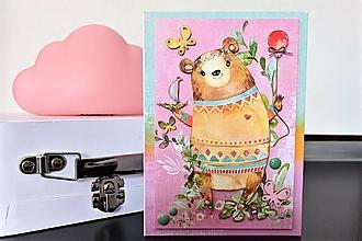 Papiernictvo - Macko pohľadnica - 13172122_