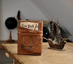 Papiernictvo - kožený lodný denník SPUINNEADAIR - 13171454_