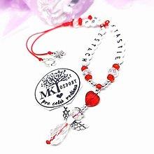Iné šperky - Krásny talizman do auta  (Červeno-biely) - 13175752_