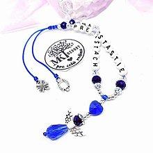 Iné šperky - Krásny talizman do auta  (Modro-biely) - 13175754_