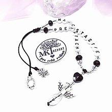 Iné šperky - Krásny talizman do auta  (Čierno-biely) - 13175757_