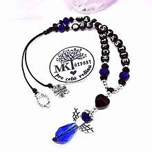 Iné šperky - Krásny talizman do auta  (Modro-čierny) - 13175767_