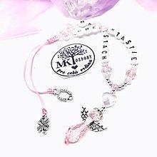 Iné šperky - Krásny talizman do auta  (Ružovo-biely) - 13175773_