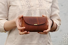 Peňaženky - Kožená peňaženka VIII. aj na veľké doklady - 13172830_