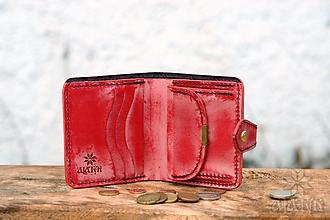 Peňaženky - Menšia kožená peňaženka IX. - 13171925_