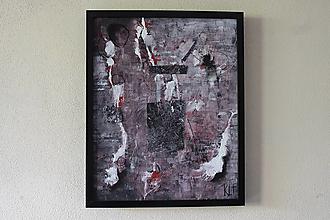 Obrazy - torn in stripes . maľba akrylom, uhlíkom . kusy plátna na dreve . A3 - 13171976_
