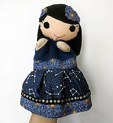 Hračky - Maňuška víla - Víla nočnej oblohy (v tme svietiaca sukienka) - 13171587_