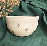 Nádoby - keramická miska Dom v dedine - 13173845_