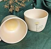 - keramická sada dvoch menších hrnčekov púpava - 13174029_