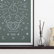 Grafika - RAK, šalviový print - 13174821_