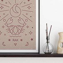 Grafika - RAK, ružový print - 13174836_