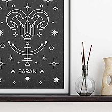 Grafika - BARAN, čierny print - 13175291_