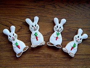 Dekorácie - zajačiky s mrkvičkou - 13173267_