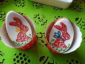 Dekorácie - Medovníky vajíčka veľkonočné/zajkovia - 13173370_