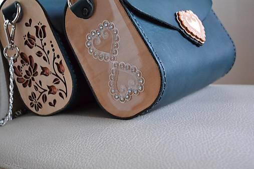 Kožená kabelka Zuzička (Smaragdovozelená pigmentovaná koža)