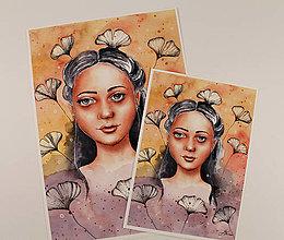 Obrazy - ART Print Dievča vo farebnom svete - 13172916_