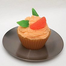 Svietidlá a sviečky - Svíčka mandarinkový muffin 12214961 - 13175764_
