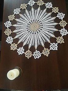 Úžitkový textil - Háčkovaná okrúhla dečka - 13177079_