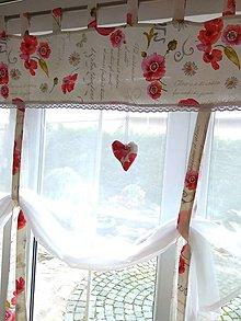 Úžitkový textil - Záclona maky - 13177566_