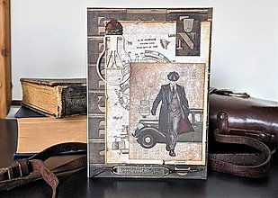 Papiernictvo - Gentleman III. vintage pohľadnica - 13177232_